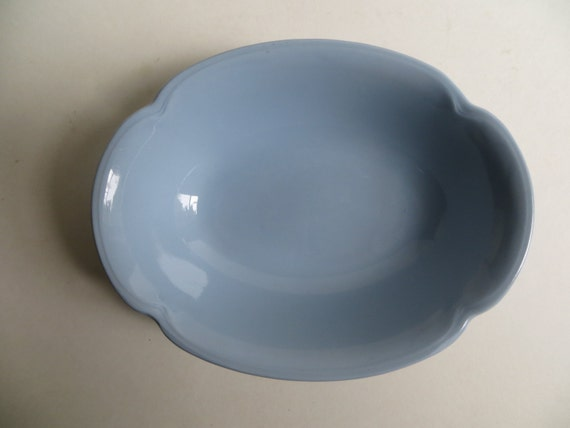 Vintage Johnson Brothers Greydawn 9 Inch Vegetable Bowl Blue