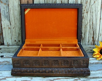 Vintage BUXTON Jewelry Box Hinged