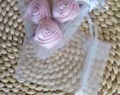 """10 pieces WHITE ORGANZA BAGS 3"""" x 4"""" with Ribbon Tie Closure"""
