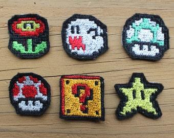 Super Mario Theme iron-on patch