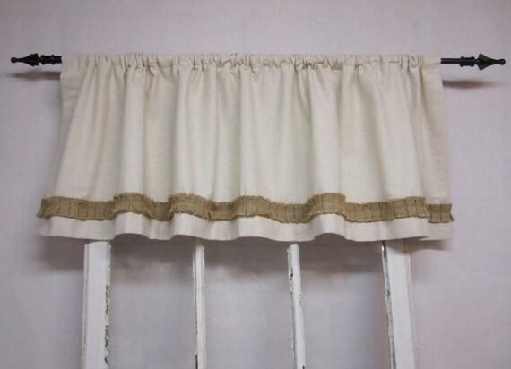 Items Similar To Burlap Curtains Valance Window Valence