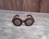 Handmade sunglasses with leather frames ROUND&ROUND