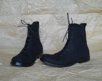 Men hand-felted boots DOPPIO-2