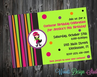 Custom Kids Halloween Party Invitations -  DIY Printable File