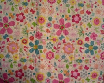 Crib/Toddler/Lap Quilt - Riley Blake - Snug as a Bug - Unique and Cuddly Quilt for Girl or Toddler or even a Lap Quilt
