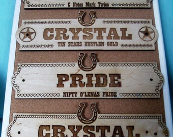 Custom Horse Name Plate Stall Barn Personalized Wood Sign