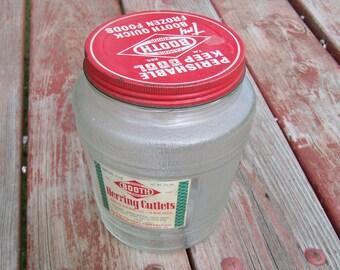Herring Cutlets Jar Vintage Booth Foods Jar Ball Jar Barrel Jar