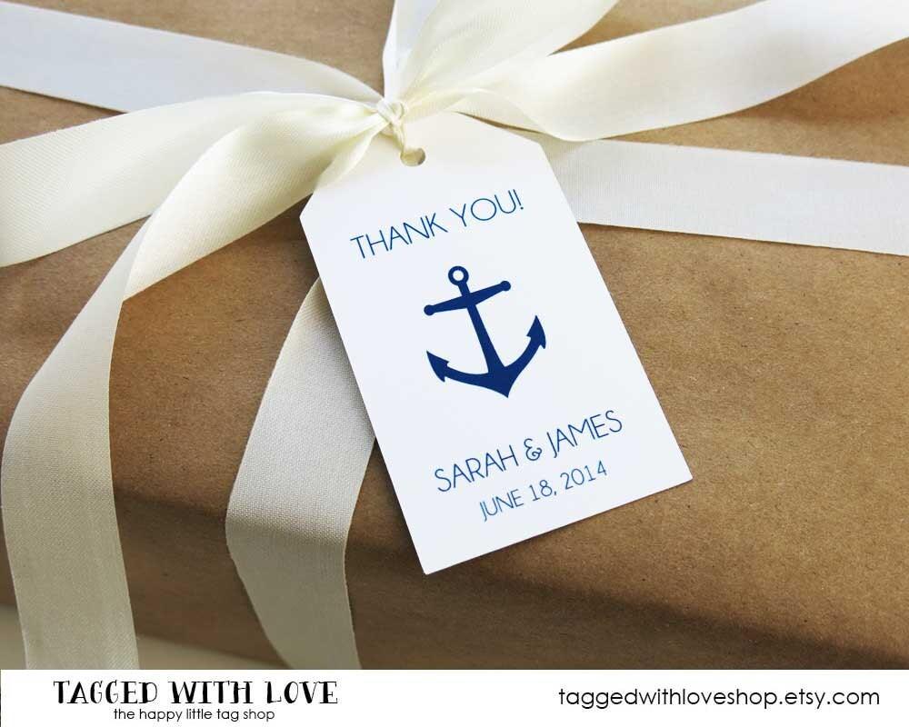 Wedding Favor Tag Anchor Wedding Favor Tag Nautical
