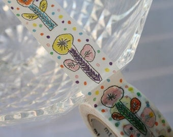 MT mina perhonen Flower White Washi Tape(20mm wide)