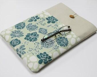 """Succulent Garden  Laptop Sleeve, 14"""" Laptop case, 15"""" Laptop Cover, Custom 17"""" Laptop case, Padded 13"""" Laptop Sleeve case, front pocket case"""