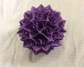 Dark Purple Paper Centerpiece