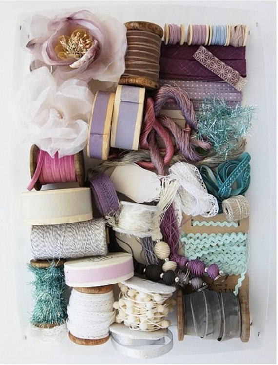Craft bag full of ribbons and trims for diy projects from for Craft ribbons and trims