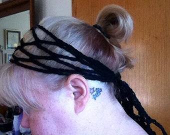 Crocheted Mesh Hair Scarf