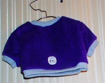OOAK purple fleece t-shirt