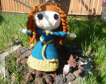 Merida Inspired LalaLoopsy type Doll