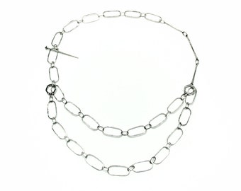 Chain Linked sterling silver necklace, made-to-order (Machine)