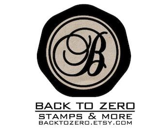 B20 Wax Seal Stamp Personalized Custom Script Initial Monogram