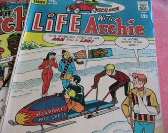 Vintage Life With Archie Comic Books Three 3 Betty Veronica Jughead Archie and Friends Comics