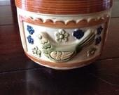 1960s pottery ceramic planter bird of paradise