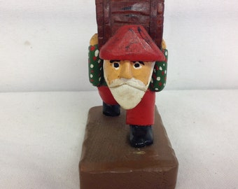 West Newton Figure with Barrel on Back