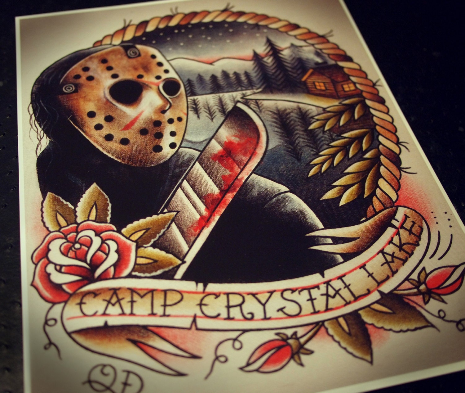 Jason Voorhees Tattoo Art Print