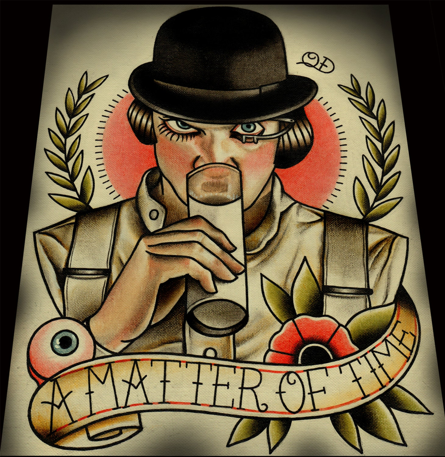 A Matter of Time A Clockwork Orange Art Print