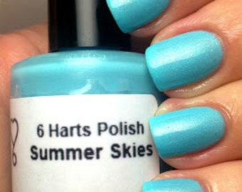 Summer Skies blue shimmer nail polish