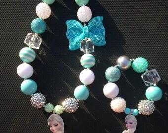 Elsa Chunky Necklace and Bracelet Set