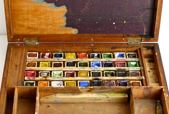 Antique Artist Paint Box Landseer Watercolor