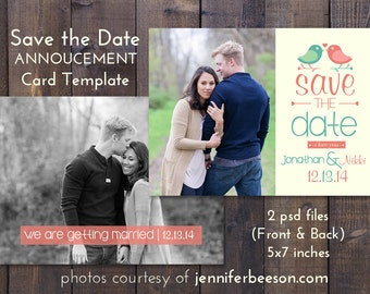 Save the Date Wedding Card Template