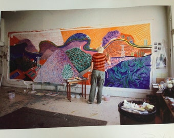 DAVID HOCKNEY Santa Monica Blvd Studio 1980 by Photographer Pat York SIGNED Limited Edition 2 of 25 Mulholland Drive: The Road to the Studio