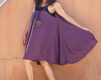 Vacation Time Dress...Sundress....Slip Dress..Color Purple