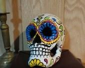 Dia de los Muertos Papier Mache Skull--Male