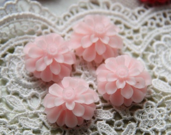 12 pcs of resin flower cabochon20mm-0031--14-baby pink