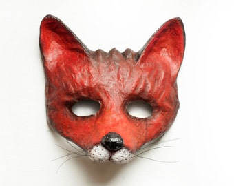 how to make a fox mask paper mache