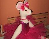 Angelina Ballerina Doll Fudhsia