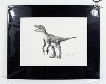 Raptor Signed Drawing Print