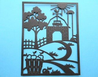 Fall Farm Scene Die Cuts Set of 6