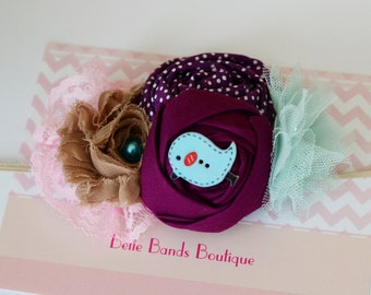 Baby Girl Headbands... Baby Headband...M2M Matilda Jane Paint by Numbers Collection Headband... Baby Bow Headband... Toddler Headband