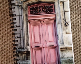 Pink Door, South of France: Blank Lined Notebook