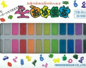 Oyumaru Reusable clay mold making material 24pc SET (12 colors)