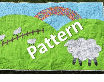 Pattern - Crib Size Quilt - Little Lambs