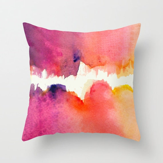 Abstract Watercolor Pillow Cover