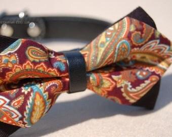Cute Bow tie dog collar,wedding dog collar.Birthday party dog collar.Cute handmade dog wedding collar.pet fahsion, Birthday gift for dog