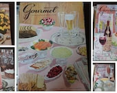 Gourmet Magazine 1957- A complete year of recipes - 12 issues Vintage Cooking Magazines