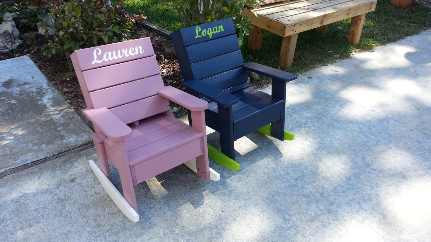 Kids Outdoor Rocking Chair With Custom Personalization