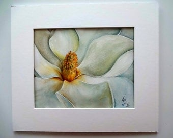 Giclee print of Magnolia Blossom from original watercolor painting-available in greeting/note/gift card