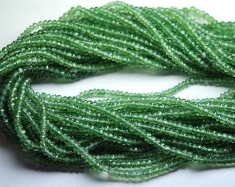 14 Inch,3-3.5mm,SUPERB-Quality,Full Strand, RUSSIAN SERPENTINE Faceted  Rondells