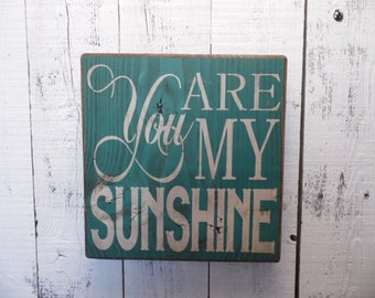 wooden sign, you are my sunshine, subway art, wall decor