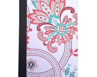 Pink & Blue Paisley Pattern Folio Case For The iPad Mini